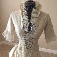 Mary Anne's 1870's Vintage Wedding Dress Restoration