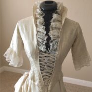 Mary Anne's 1870's Vintage Wedding Dress Restoration