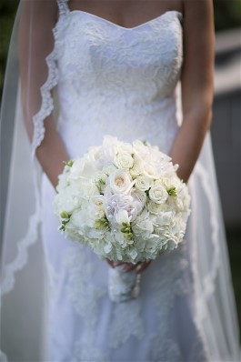 Julia's beautiful bouquet. Wedding gown preservation will keep her gown fresh as a flower.