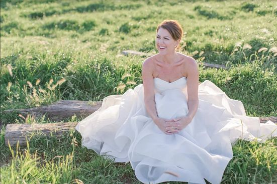 Kyle Ewing's fun and whimsical wedding dress preservation captured on her wedding day.