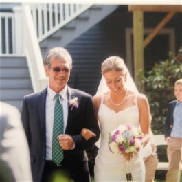 Karen's wedding gown is worn down the aisle a second time. by daughter Catie. Wedding dress preservation can ensure your wedding dress can be worn again.