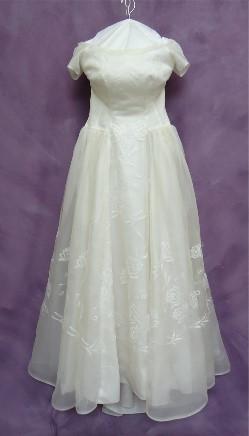 Abigail's Grandmother's wedding gown after wedding dress restoration.