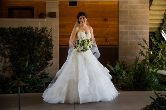 Claire W. glows in this Fabrizia by Rivini. Wedding dress preservation will keep it beautiful for years.