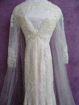 Mackenzies wedding dress after expert wedding dress cleaning and ready for wedding dress preservation