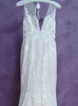 Mackenzies Wedding Dress Before Cleaning