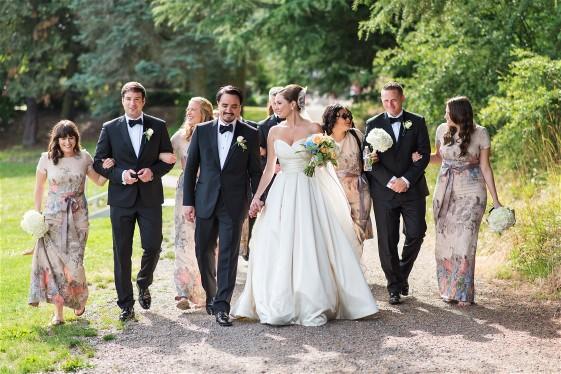 Celebrating the wedding of Katherine and Mark