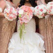 Gen's Striped Wedding Dress Helps Wedding Sparkle