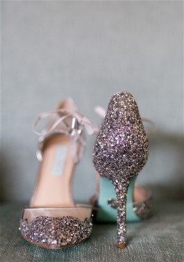 Gen's bridal shoes sparkle also. HGP can clean shoes along with expert wedding dress cleaning.