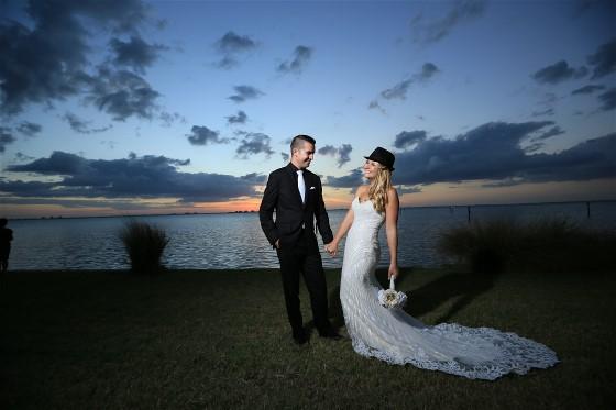 A little moonlight Kim's wedding celebration.
