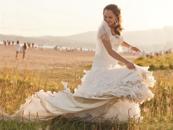 Synthetic wedding gowns save money on wedding dress preservation this month