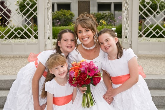 Flower girl photos with bride are excellent wedding day photography