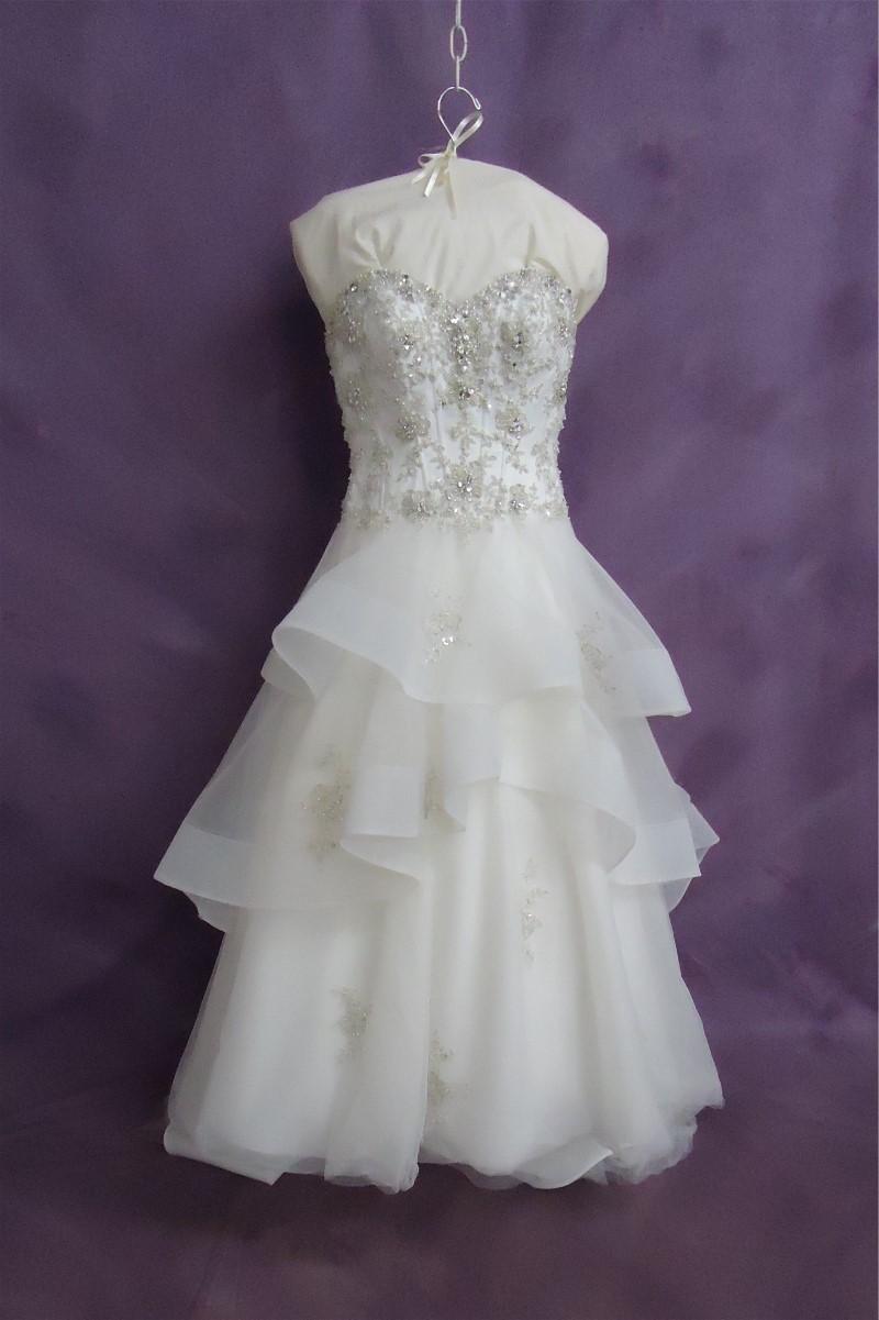 Kate's wedding dress after her expert wedding dress cleaning.