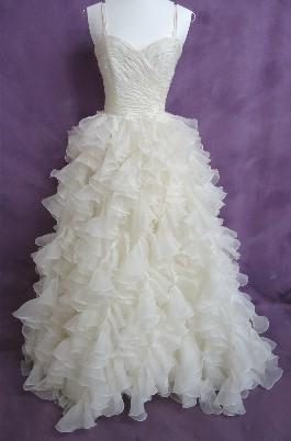 Lauren's borrowed wedding dress AFTER expert wedding dress cleaning from HGP.