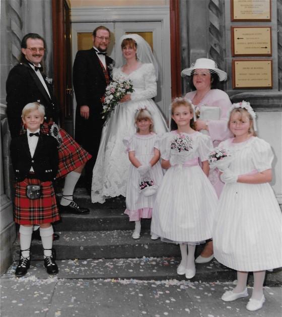 Margaret's Scottish Wedding Dress Restoration
