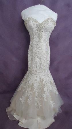 Jamie's gown after wedding dress preservation.