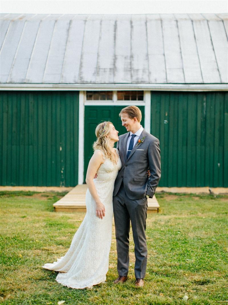 Sarah and Matt on their wedding day.