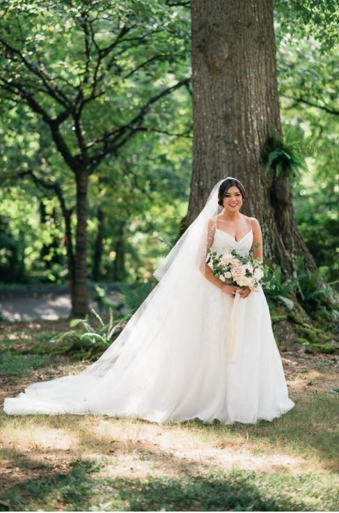 Stephanie 39 s customized wedding dress heritage garment for Wedding dress cleaning atlanta