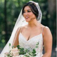 Custom Train and Veil Amazing on Lela Rose Wedding Dress
