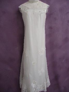 Jaylin's grandmother's wedding gown after wedding dress restoration