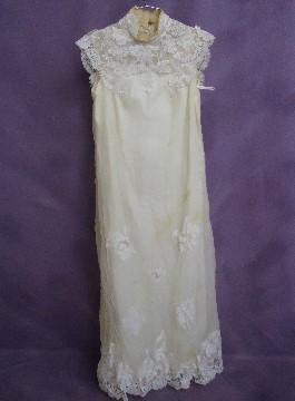 Jaylin's grandmother's wedding dress before wedding dress restoration