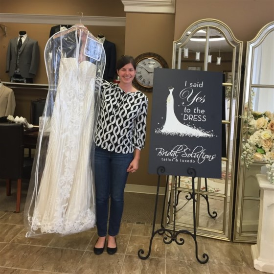 Erica's wedding dress is love at first sight. She knew it was the one for her.