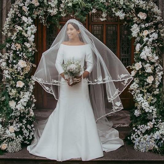 Megan Markle wedding dress replica designed by Shauna Fay