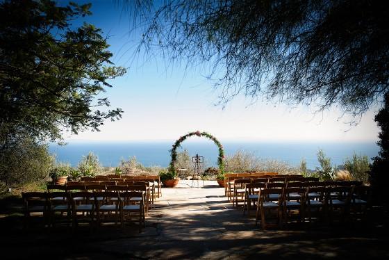 Diane's wedding venue looks over Malibu beach.