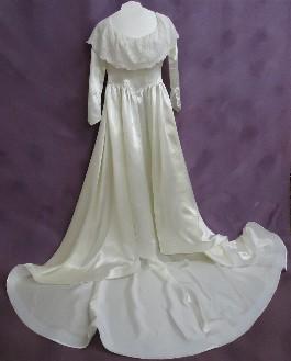 Amy's heirloom gown AFTER wedding dress restoration.
