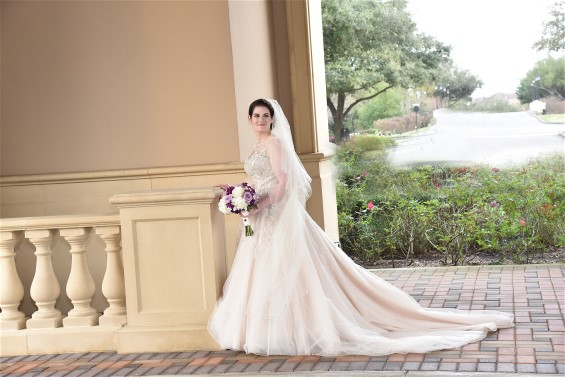 Ilyse in Justin Alexander wedding gown. Wedding dress preservation will ensure her gown retains it's value.