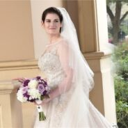 Justin Alexander Gown Is Classic Elegance for Ilyse
