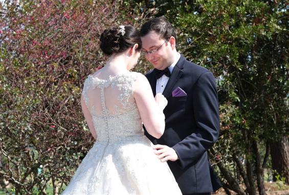 Ilyse and new husband Jay on wedding day.