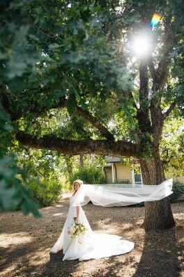 Melissa on wedding day in beautiful Calistoga, California.