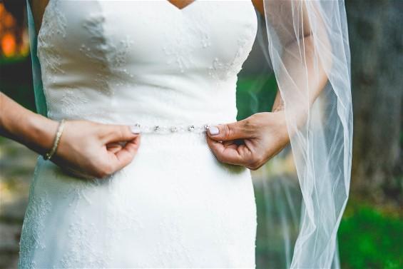 Wedding dress preservation will keep Kelsey's wedding dress perfect.