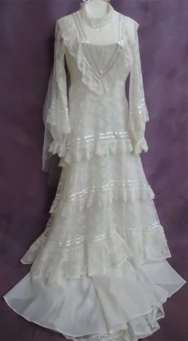 Kathleen's wedding dress AFTER wedding dress restoration.