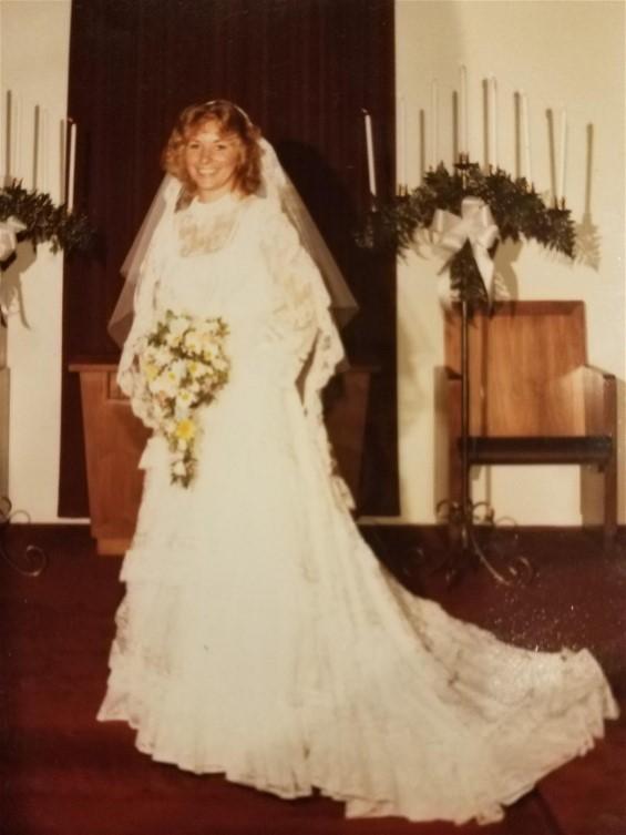 Kathleen on her wedding day.