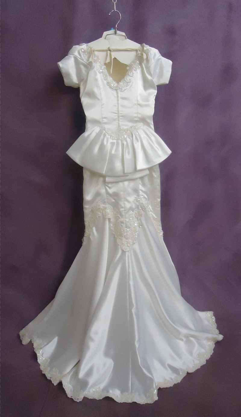 Back View - Robin had her wedding dress sleeves restyled for her to wear her gown again.