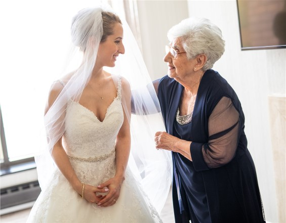 Meredith and grandmother on her wedding day.