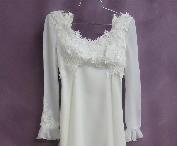 AFTER wedding dress restoration