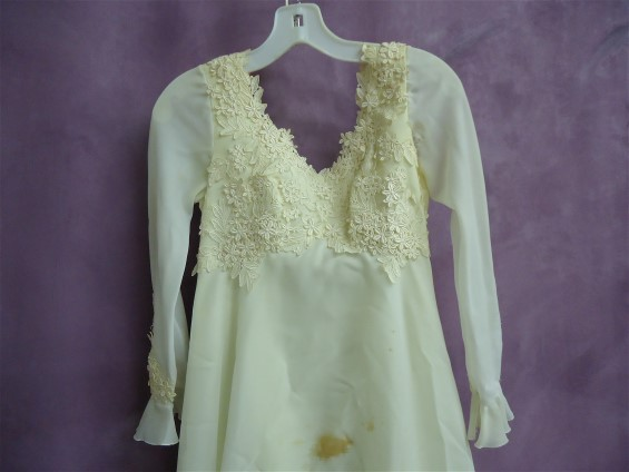Before wedding dress restoration