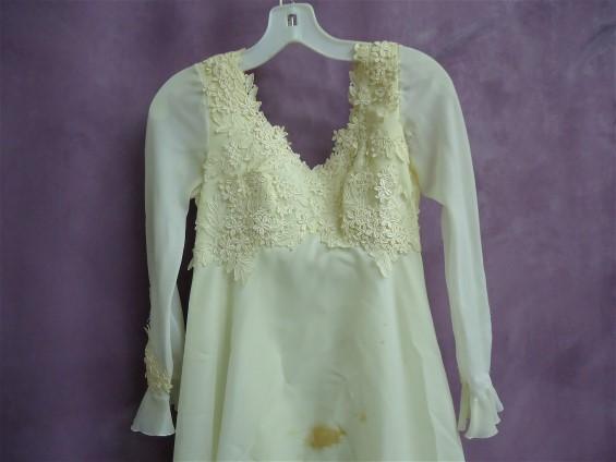 Before wedding dress restoration