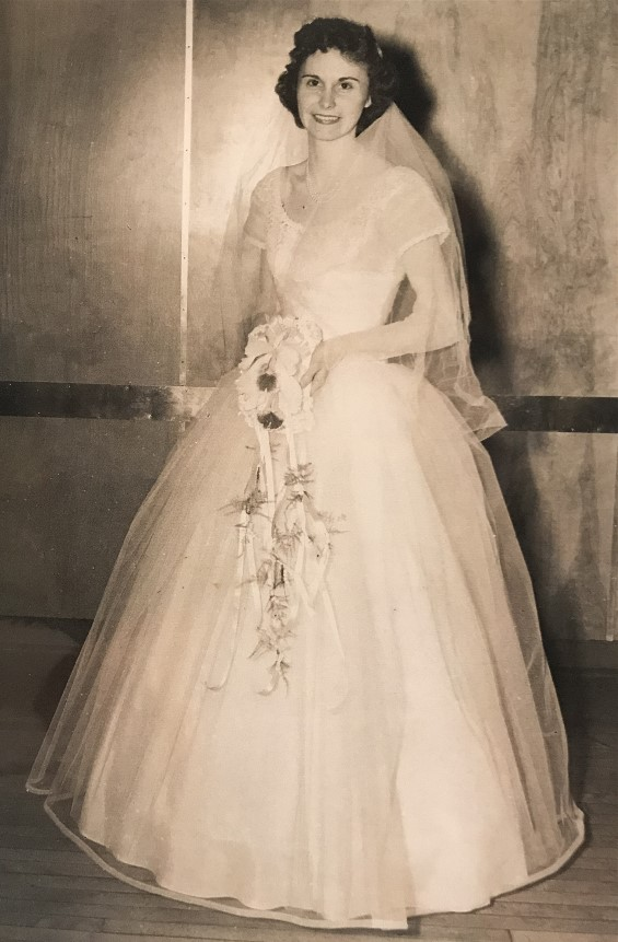Irene on her wedding day.