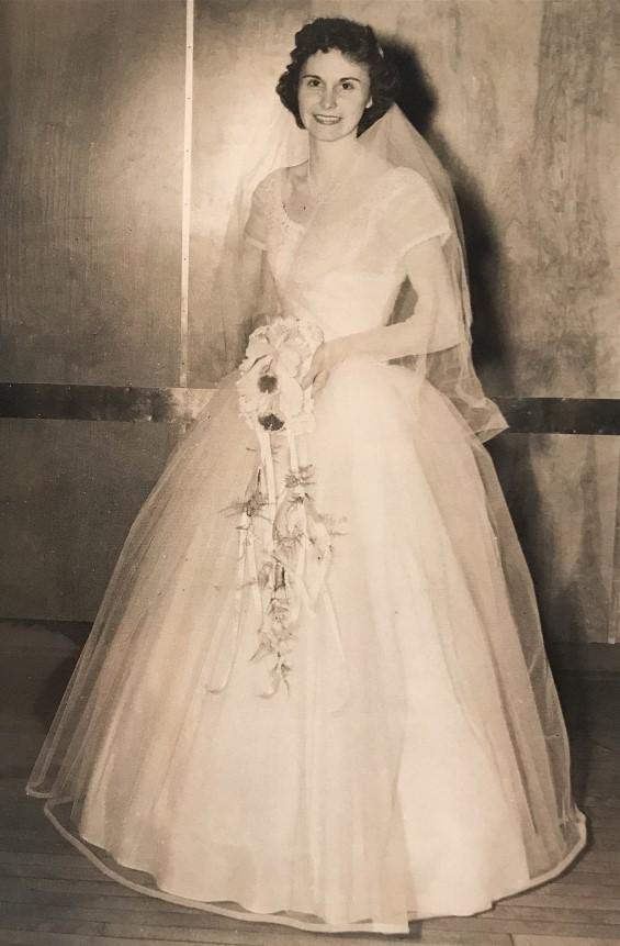 Irene on her wedding day.