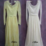 Mother's Wedding Dress Restoration Amazing