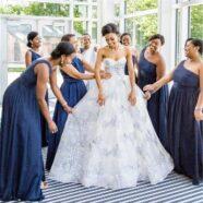 Loren's Something Blue is her Wedding Dress