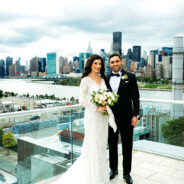 Brittany's Rooftop Wedding and Gorgeous Lace Gown