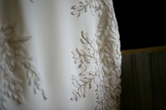 More details of Rebecca's gown
